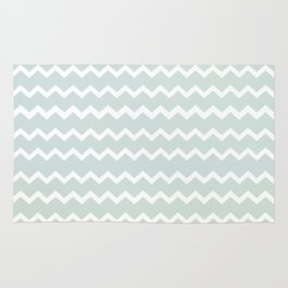 Wedgewood Blue Winter Chevron Design Rug