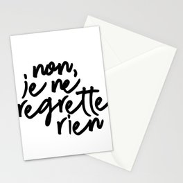 no, I regret nothing Stationery Cards