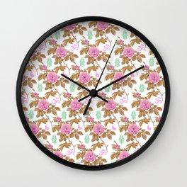 Floral Hamsa Wall Clock