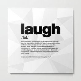 definition LLL - Laugh 1 Metal Print