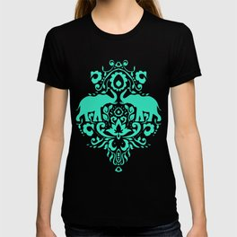 Elephant Damask Mint T-shirt