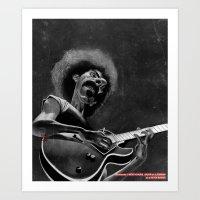 zappa Art Prints featuring Frank Zappa by Katon Aqhari