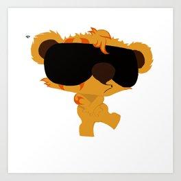 Bozo The Teddy Art Print
