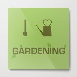 I heart Gardening Metal Print