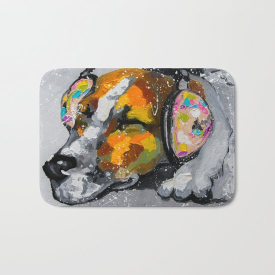Blues for dog Bath Mat