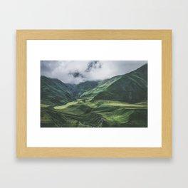 Caucasus Mountans, Kazbegi, Georgia Framed Art Print