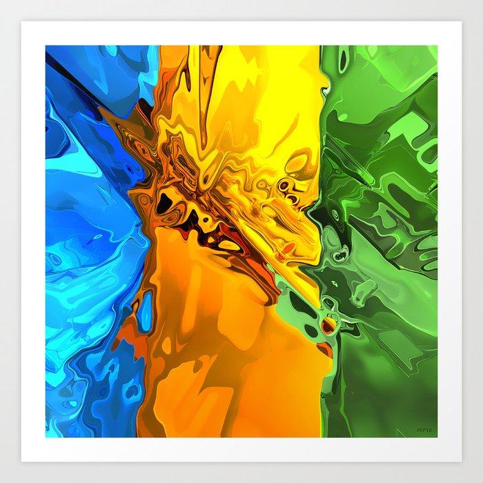 Blend of Bright Colors Art Print