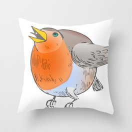 Big Bird Bertha Throw Pillow