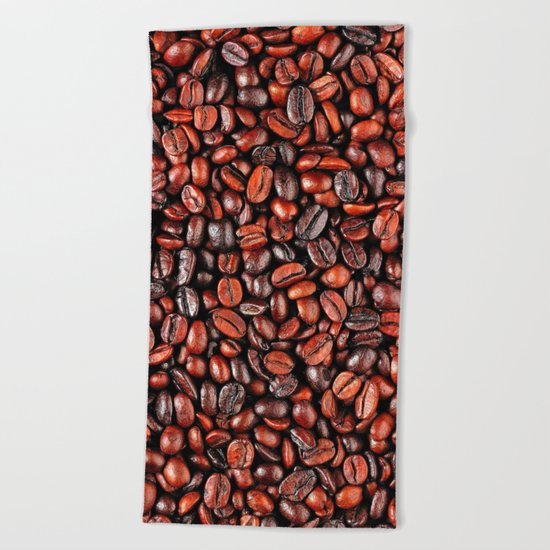 Coffee beans Beach Towel