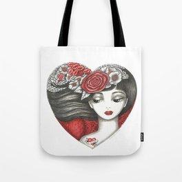 Valentine Girl Tote Bag