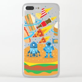 Space Burger Clear iPhone Case