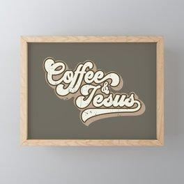 Coffee and Jesus Framed Mini Art Print