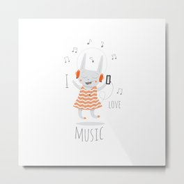 I love music. Metal Print