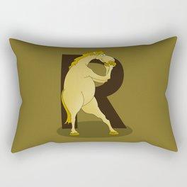Monogram R Pony Rectangular Pillow