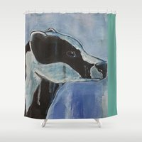 badger Shower Curtains featuring Badger by Alex Stalling