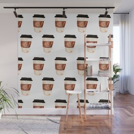 Coffee and Hustle on the Go Wall Mural