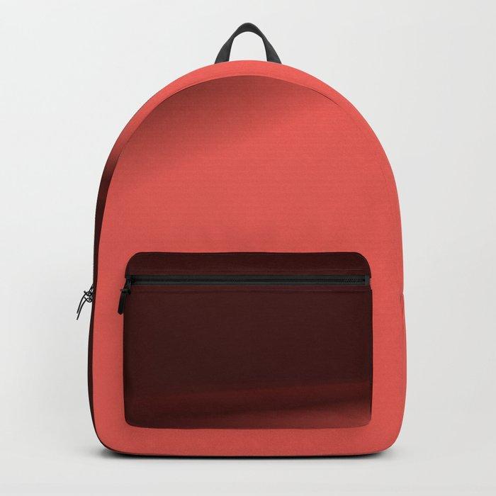 Dark Coral Burgundy Two Toned Design Backpack
