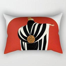 """Art Deco Illustration """"Monaco"""" by Erté Rectangular Pillow"""