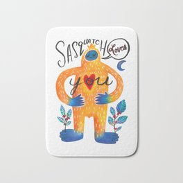 Sasquatch Loves You Bath Mat