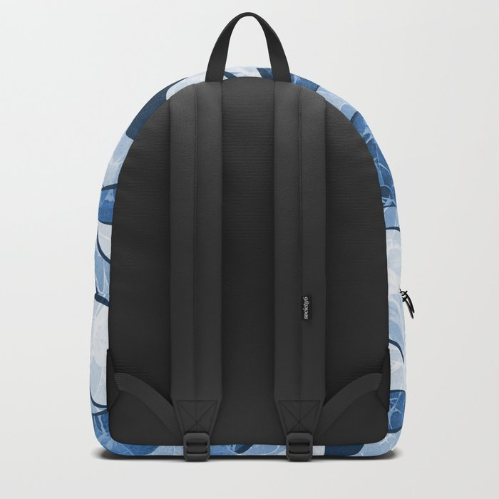 Abstract Blue Sea Waves Design Backpack