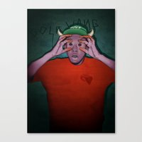 tyler spangler Canvas Prints featuring Tyler by Tobias Hall