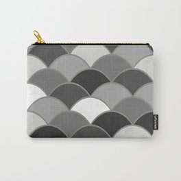 Waves Vintage Graphic Design - grey Carry-All Pouch