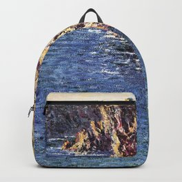 Claude Monet - Grotte de Port-Domois.jpg Backpack