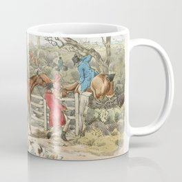 Illustration of sportsmen within an enclosure from Sporting Sketches (1817-1818) by Henry Alken (178 Coffee Mug