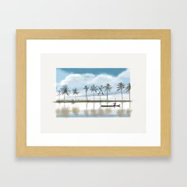 62 - Alleppey paddy fields Framed Art Print