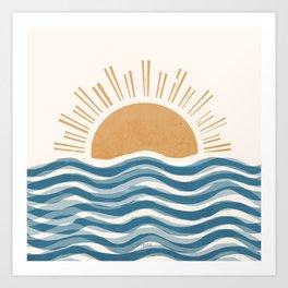 Waft Sun-Blue Art Print