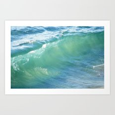 Teal Surf Art Print