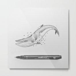 Minke Whale Soul Metal Print