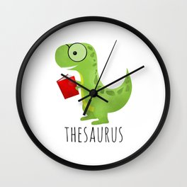 Thesaurus Wall Clock