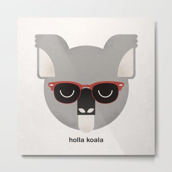 Holla Koala Metal Print
