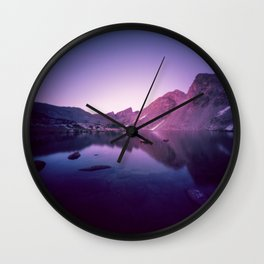 Billy's Lake Blue Hour Wall Clock