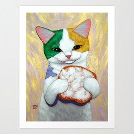 MARDI GRAS CATCH Art Print