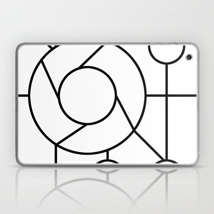 circles geometry art Laptop & iPad Skin by doomrabbit