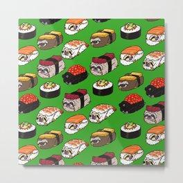 Sushi Sloth Metal Print