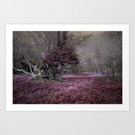 Purple Glade Art Print