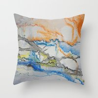 reassurance Throw Pillows featuring Abstract colors 1 by Magdalena Hristova