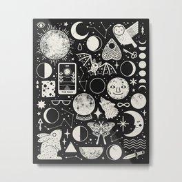 Lunar Pattern: Eclipse Metal Print