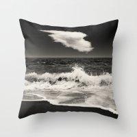 spain Throw Pillows featuring Mijas, Spain by Carlos Sanchez