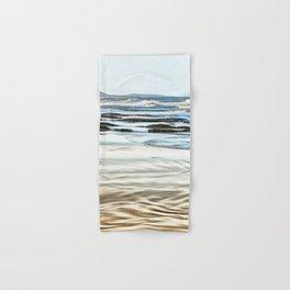 Abstract waves on the beach Hand & Bath Towel