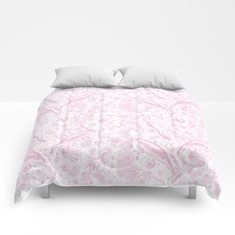 Mermaid Toile - Baby Pink Comforters