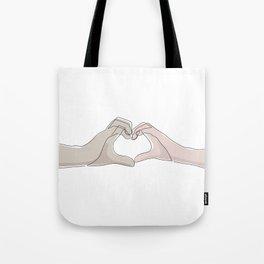Hand Heart Shades Tote Bag