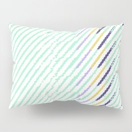 Green Drops of Time Pillow Sham