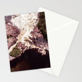 Secret Waterfall in nature - aerial photography Stationery Cards