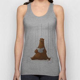 A Bear in the Woods Unisex Tank Top