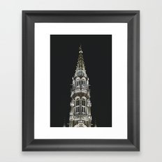 Brussels by Night Framed Art Print