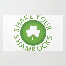 Shake Your Shamrocks St Patricks Day Leaf Gift Rug